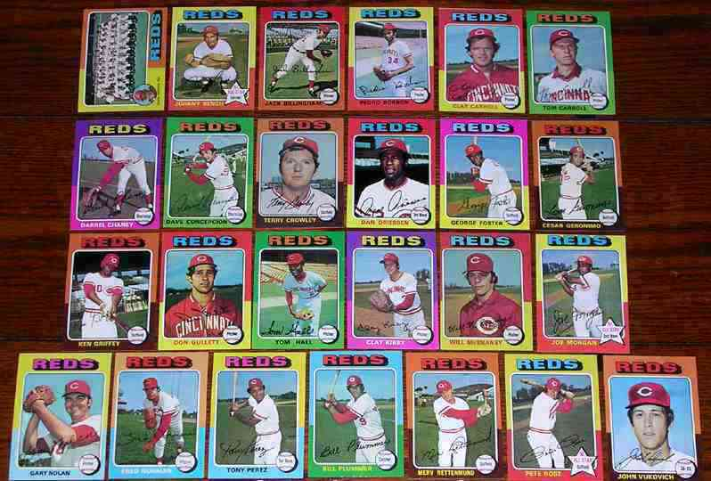 REDS (24/25) - 1975 Topps partial TEAM SET Baseball cards value