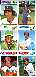 1977 Topps  - UNCUT 6-card PANEL with Jim Rice (Red Sox)