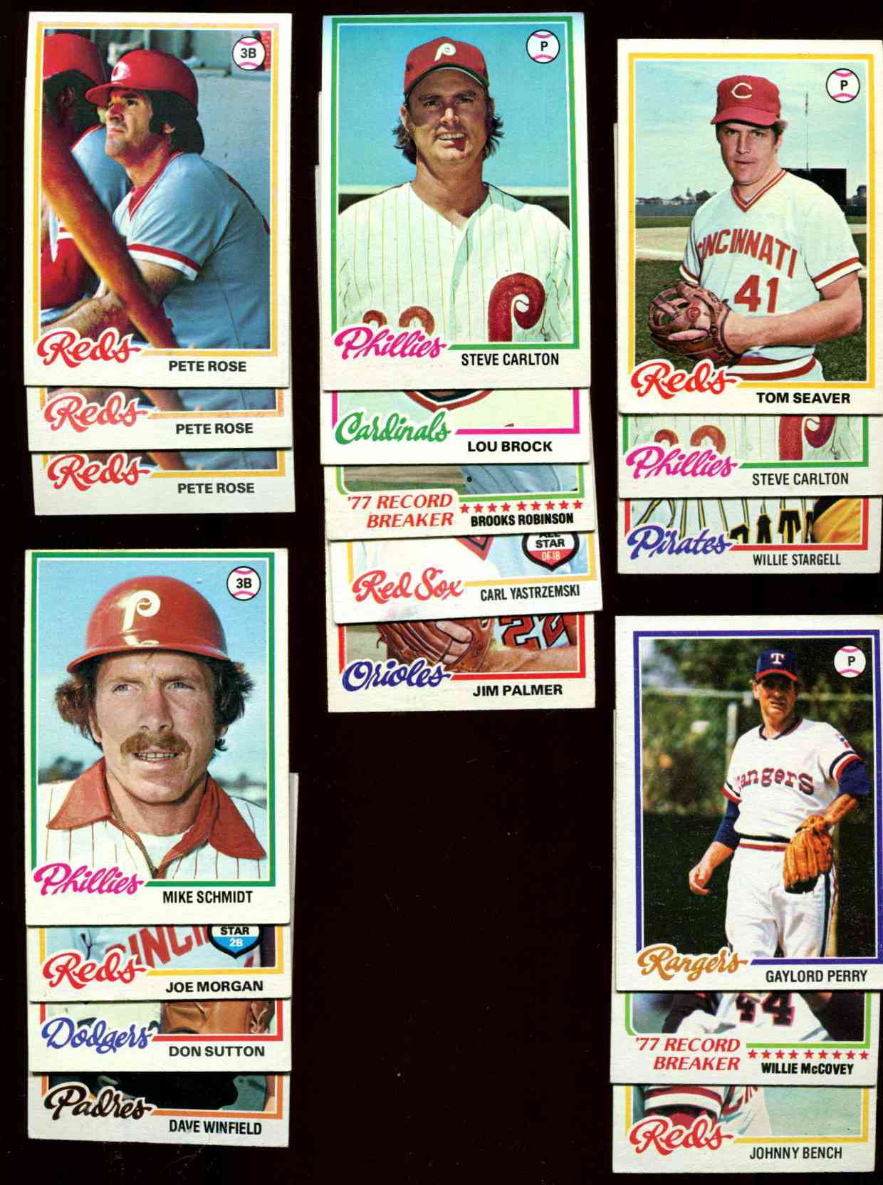 1978 Topps - Lot (700+) asst.  w/Rose & (10) HALL-OF-FAMERS Baseball cards value