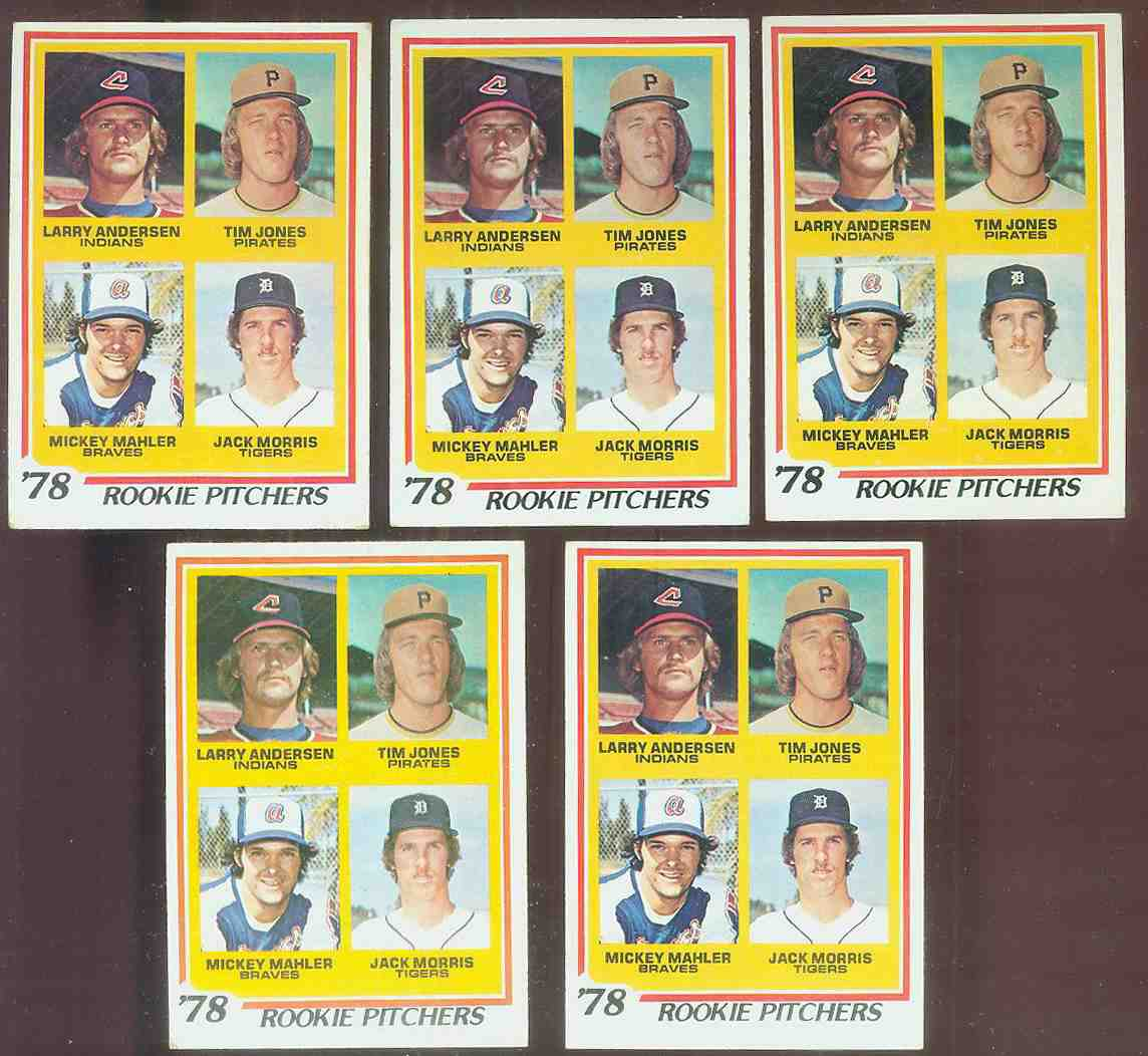 1978 Topps #703 Jack Morris ROOKIE  - Lot of (5) (Tigers) Baseball cards value