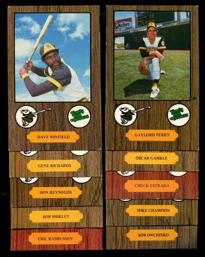 1978 Family Fun Centers PADRES - Lot (10) w/DAVE WINFIELD & GAYLORD PERRY Baseball cards value