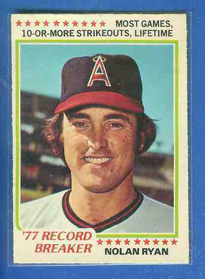 1978 O-Pee-Chee/OPC #241 Nolan Ryan RB ('Most Games 10 or More Strikeouts') Baseball cards value