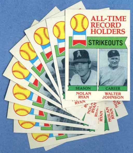 1979 Topps #417 Nolan Ryan/Walter Johnson - LOT OF (10) Baseball cards value
