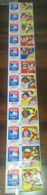 1979 Topps Comics - #1-#11 COMPLETE UNCUT STRIP with AD PANELS !!! Baseball cards value