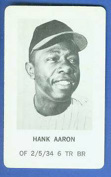 1970 Milton Bradley - Hank Aaron Baseball cards value