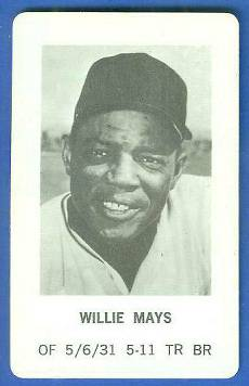 1970 Milton Bradley - Willie Mays Baseball cards value