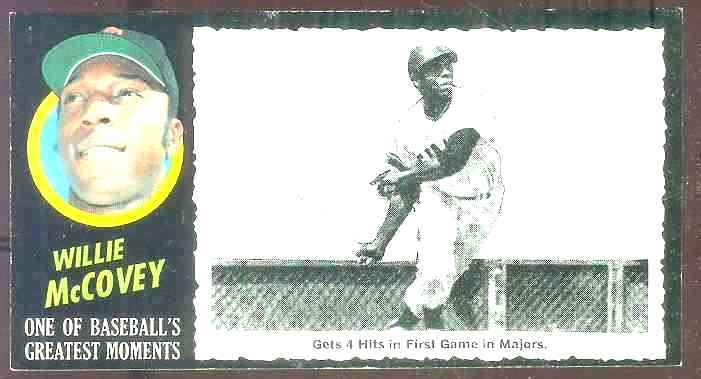 1971 Topps Greatest Moments #52 Willie McCovey (Giants) Baseball cards value