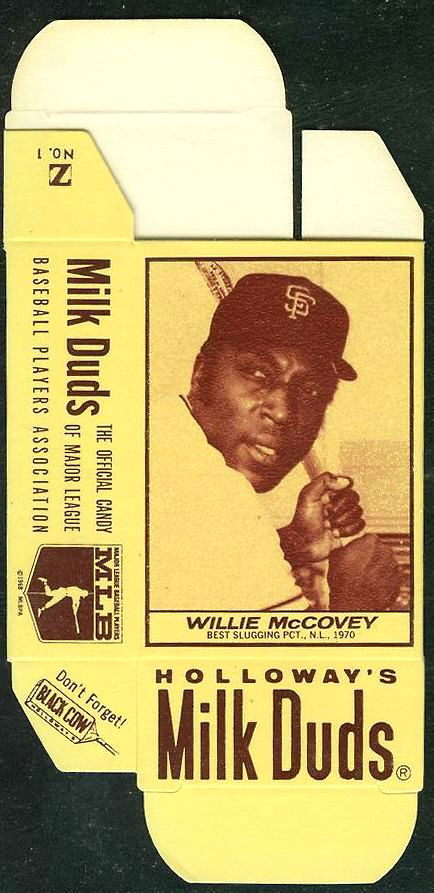 1971 Milk Duds - Willie McCovey (Giants) Baseball cards value