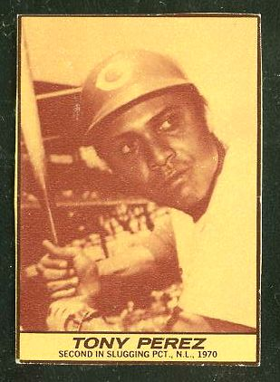 1971 Milk Duds - Tony Perez (Reds) Baseball cards value