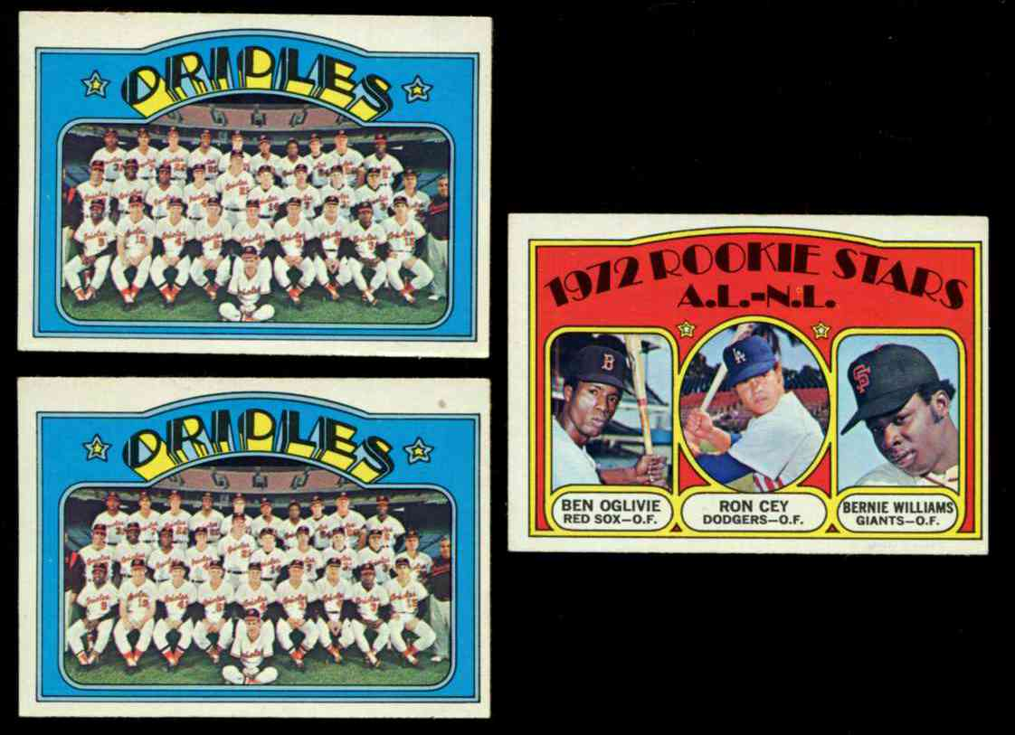 1972 Topps #731 Orioles TEAM card SCARCE HIGH #.. Baseball cards value