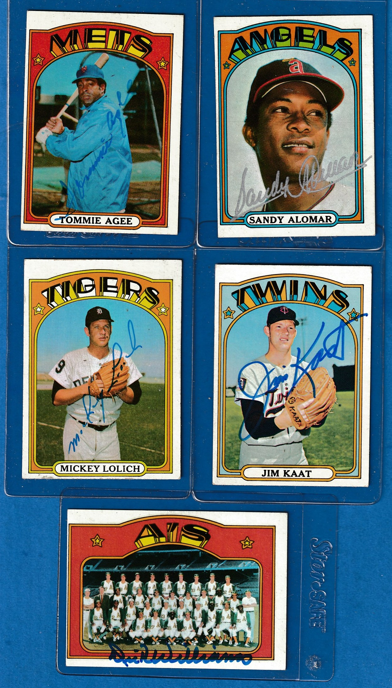 AUTOGRAPHED: 1972 Topps #709 Jim Kaat SCARCE HIGH # (Twins) Baseball cards value