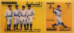 BABE RUTH/Lou Gehrig/Murderer's Row - 1972 MANAMA Official Postage Stamp Baseball cards value