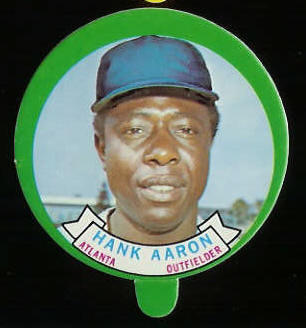 1973 Topps Candy Lid - HANK AARON (Braves) Baseball cards value