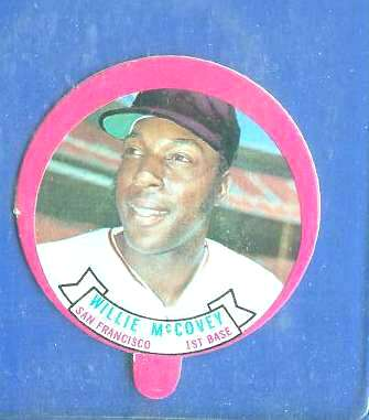 1973 Topps Candy Lid - WILLIE McCOVEY (Giants) Baseball cards value
