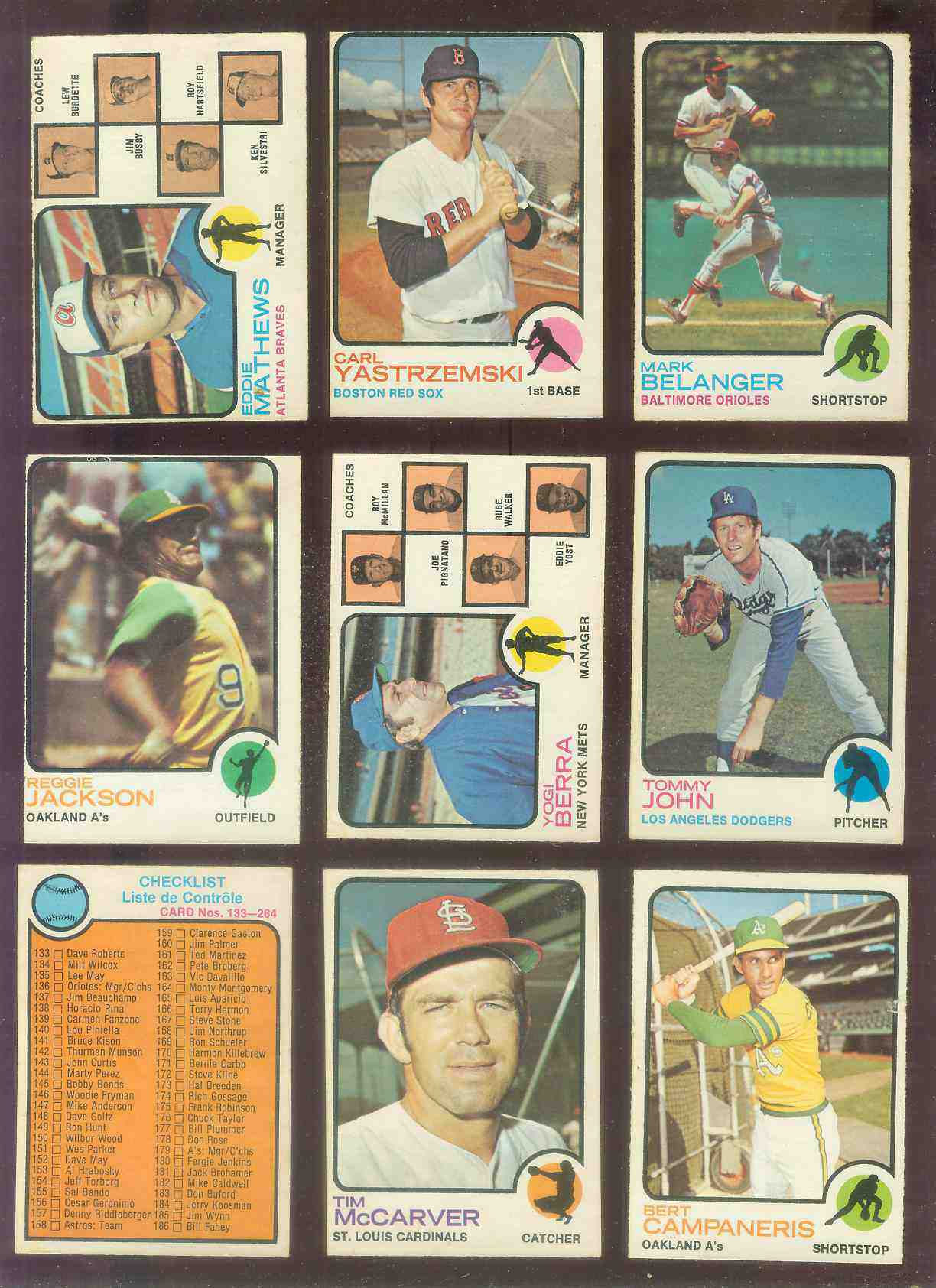 1973 O-Pee-Chee/OPC #264 Checklist [#x] (#133-264) Baseball cards value