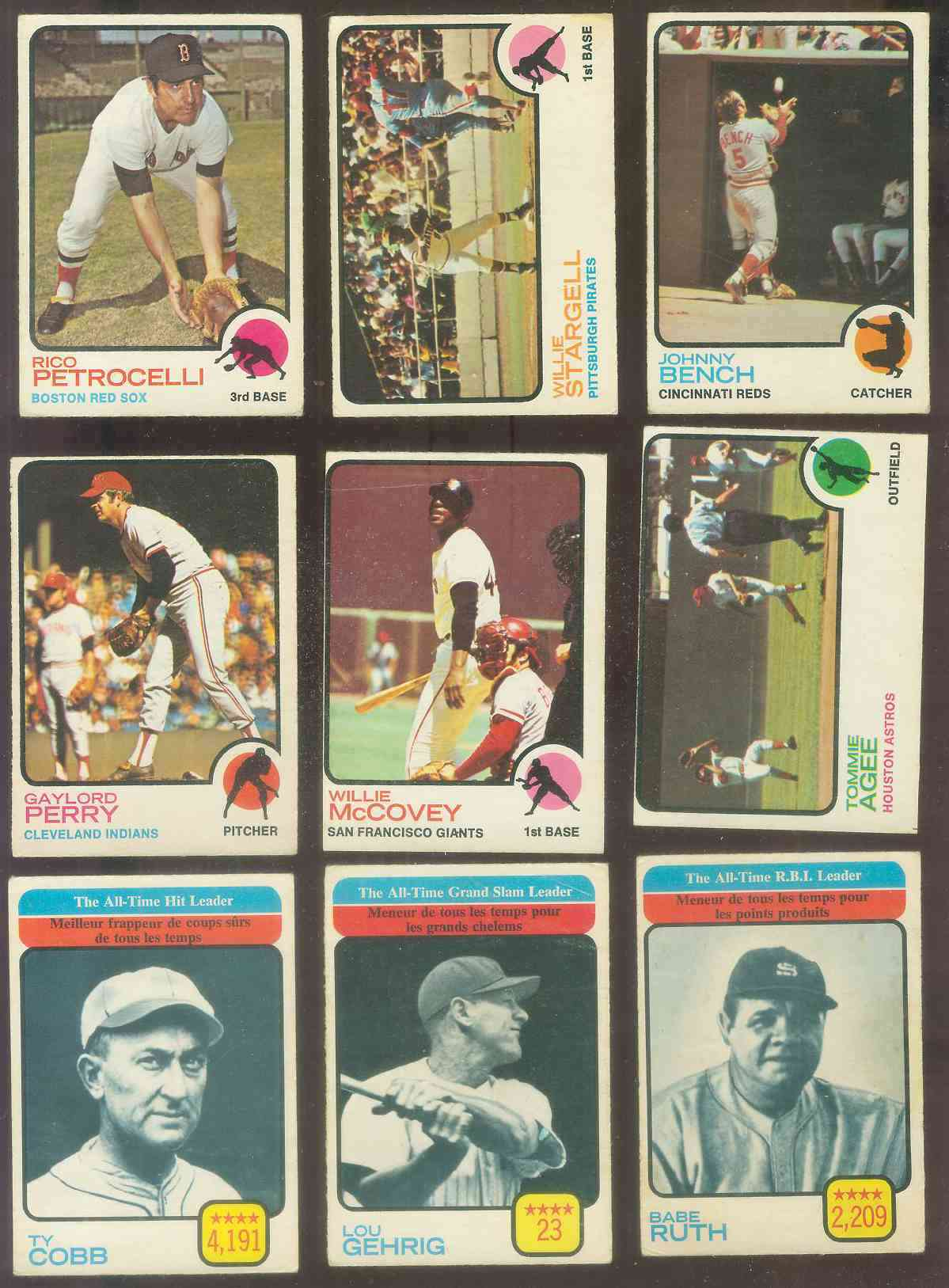1973 O-Pee-Chee/OPC #471 Ty Cobb All-Time Leaders [#x] (4,191 Hits) (Tigers Baseball cards value