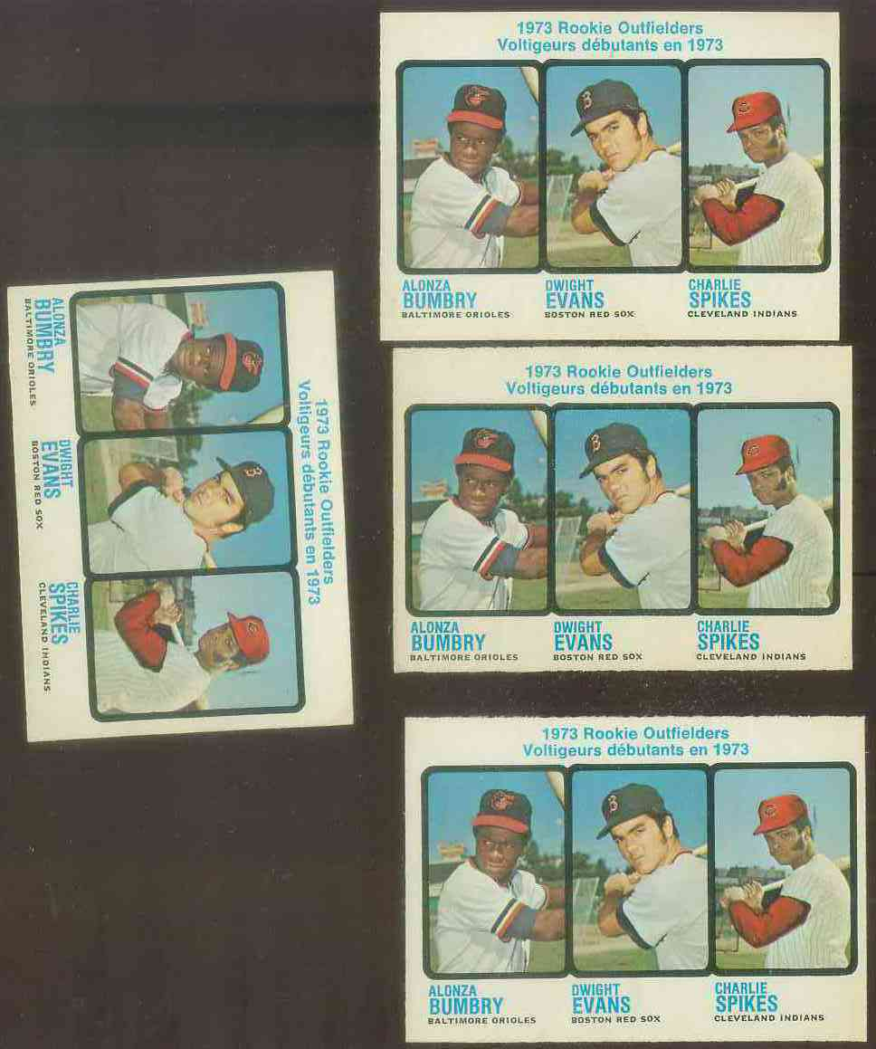 1973 O-Pee-Chee/OPC #614 Dwight Evans ROOKIE [#b] Baseball cards value