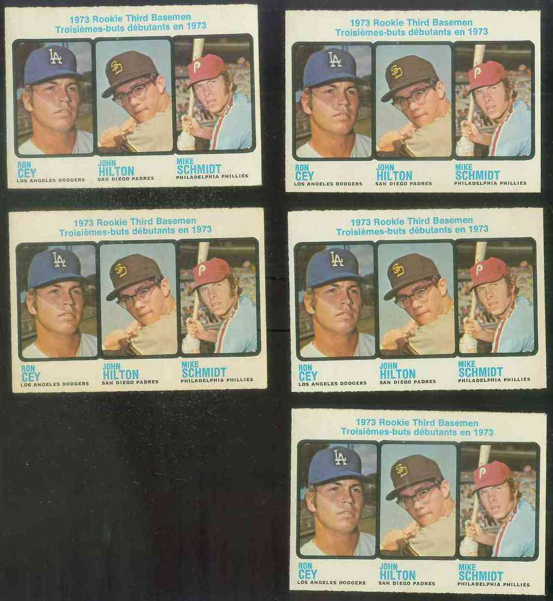 1973 O-Pee-Chee/OPC #615 Mike Schmidt ROOKIE [#a] (w/Ron Cey) Baseball cards value