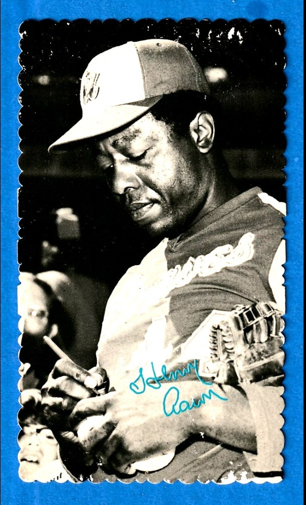 1974 Topps DECKLE #57 Hank Aaron Baseball cards value
