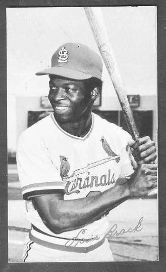 1974 Topps DECKLE EDGE UN-DECKLED PROOF #.0 Lou Brock (Cardinals) Baseball cards value