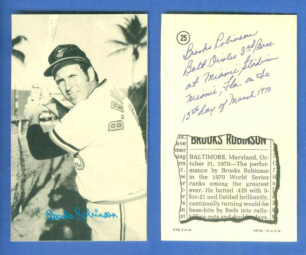 1974 Topps DECKLE EDGE UN-DECKLED PROOF #25 Brooks Robinson WHITE BACK Baseball cards value