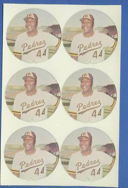 1974 McDonald's Padres -  COMPLETE SHEET of (6) WILLIE McCOVEY discs Baseball cards value