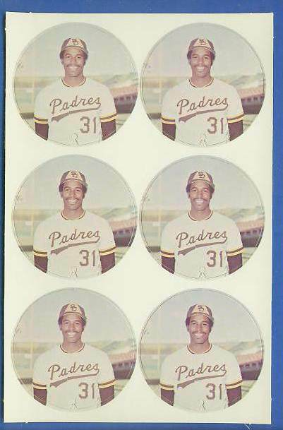 1974 McDonald's Padres -  COMPLETE SHEET of (6) DAVE WINFIELD ROOKIE Discs Baseball cards value
