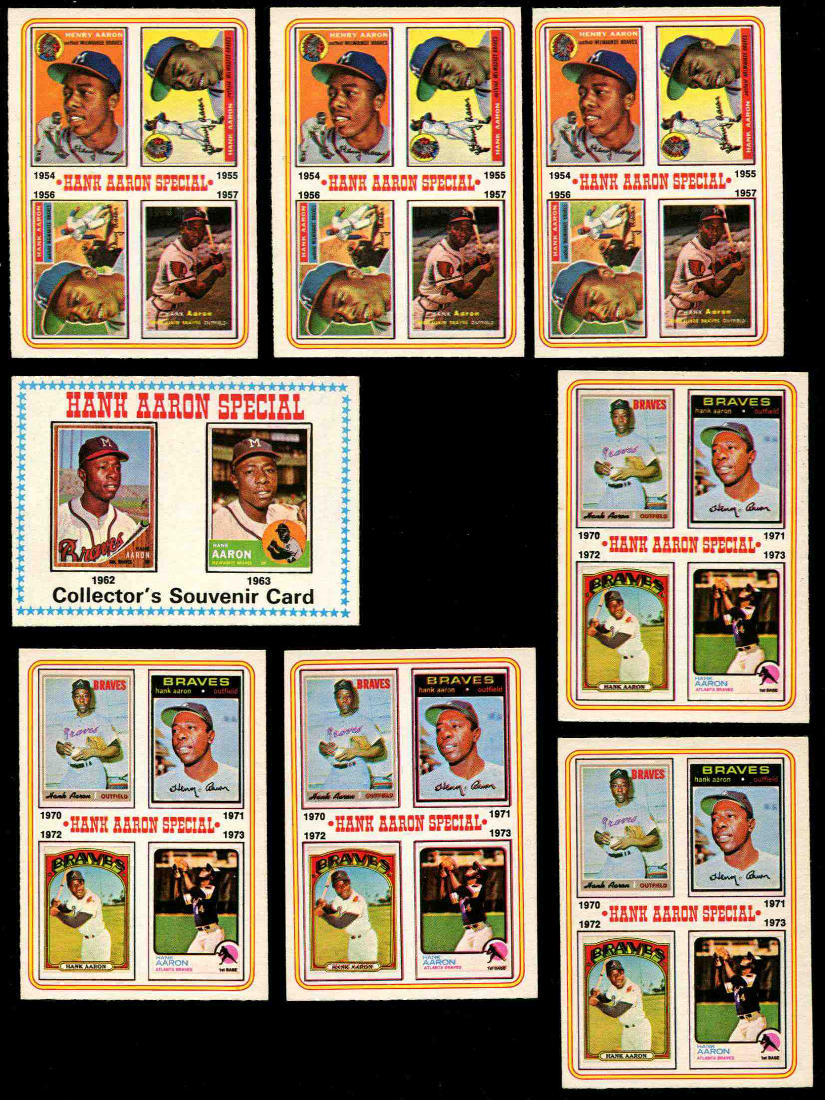 1974 O-Pee-Chee/OPC #..9 Hank Aaron (1970-73) (Braves) Baseball cards value
