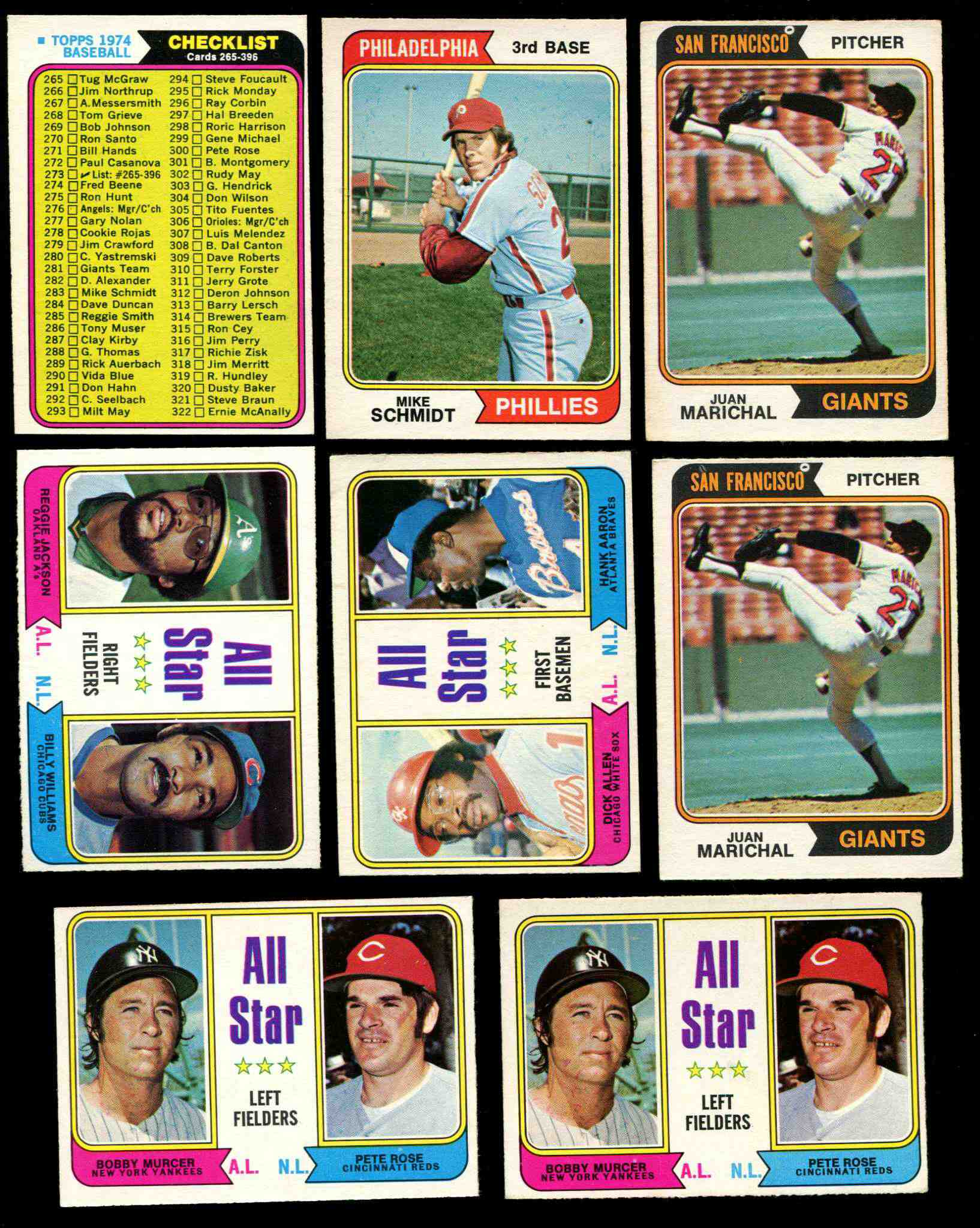 1974 O-Pee-Chee/OPC #332 Richie Allen/Hank Aaron 'All-Star 1B' (White Sox/B Baseball cards value