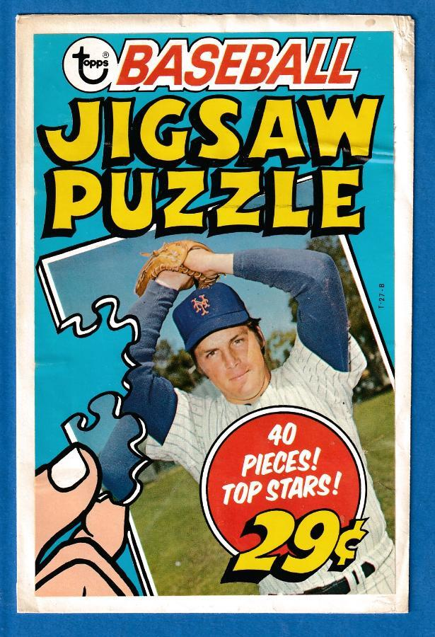 1974 Topps PUZZLE  WRAPPER - Pictures Tom Seaver (Mets) Baseball cards value