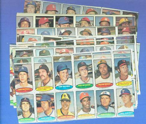 1974 Topps STAMPS -  COMPLETE SET 24 Diff. COMPLETE SHEETS!!! (288 stamps) Baseball cards value