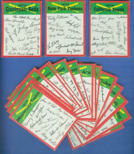 1974 Topps Team Checklists  - COMPLETE SET of (24) (VG to EX) Baseball cards value