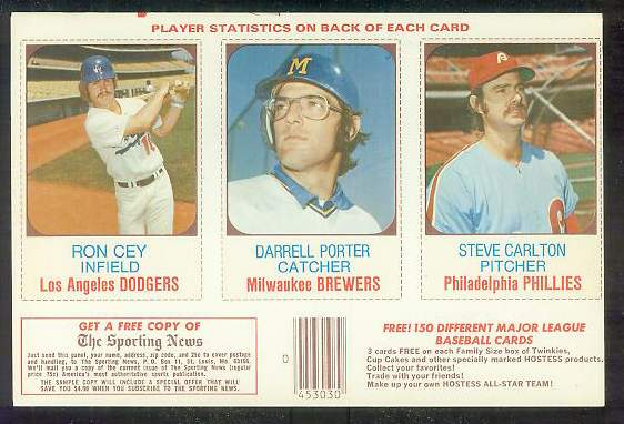 1975 Hostess PANEL  w/Ads #.61-62-63 Steve Carlton Baseball cards value