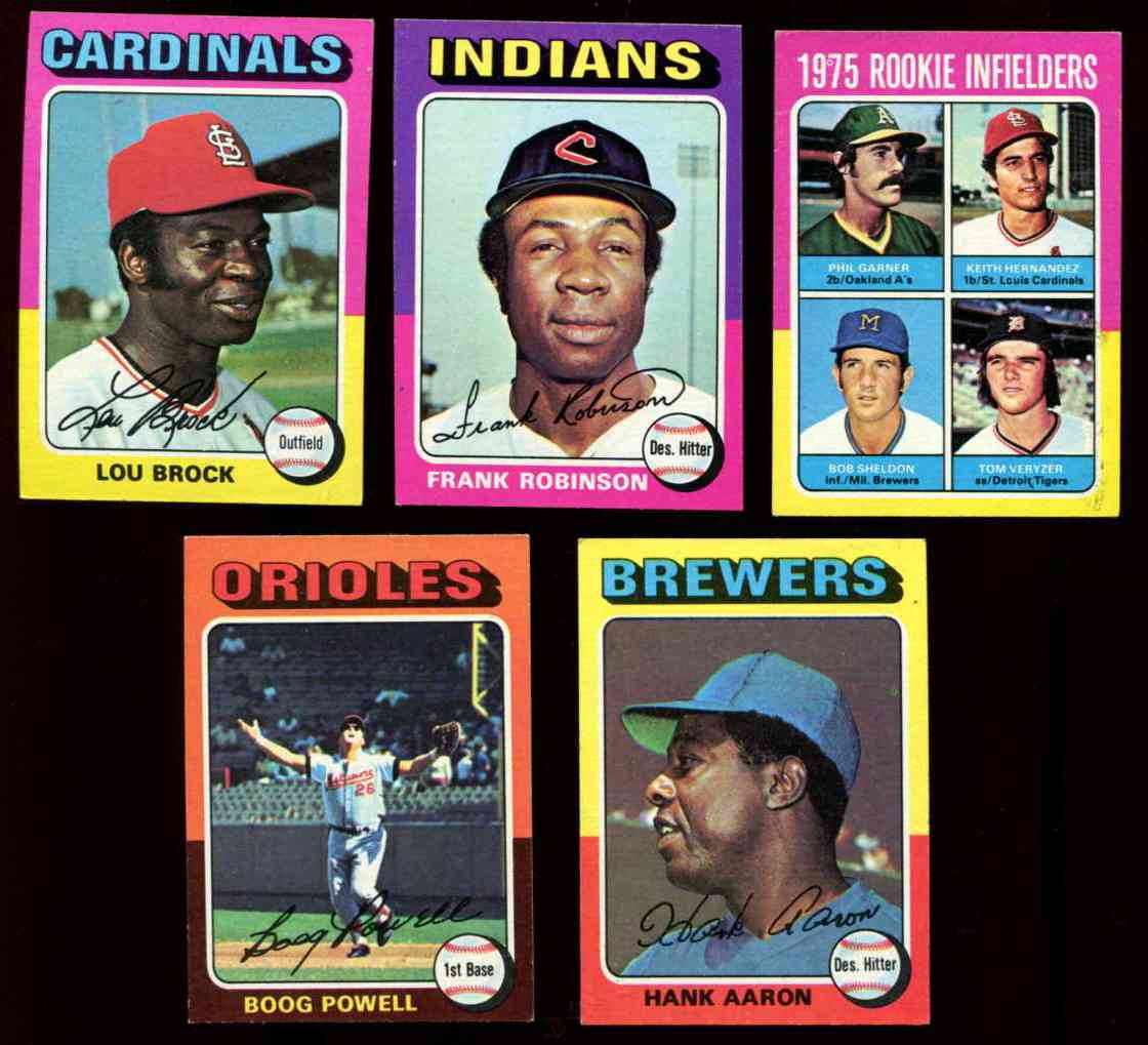 1975 Topps MINI #540 Lou Brock [#y] (Cardinals) Baseball cards value