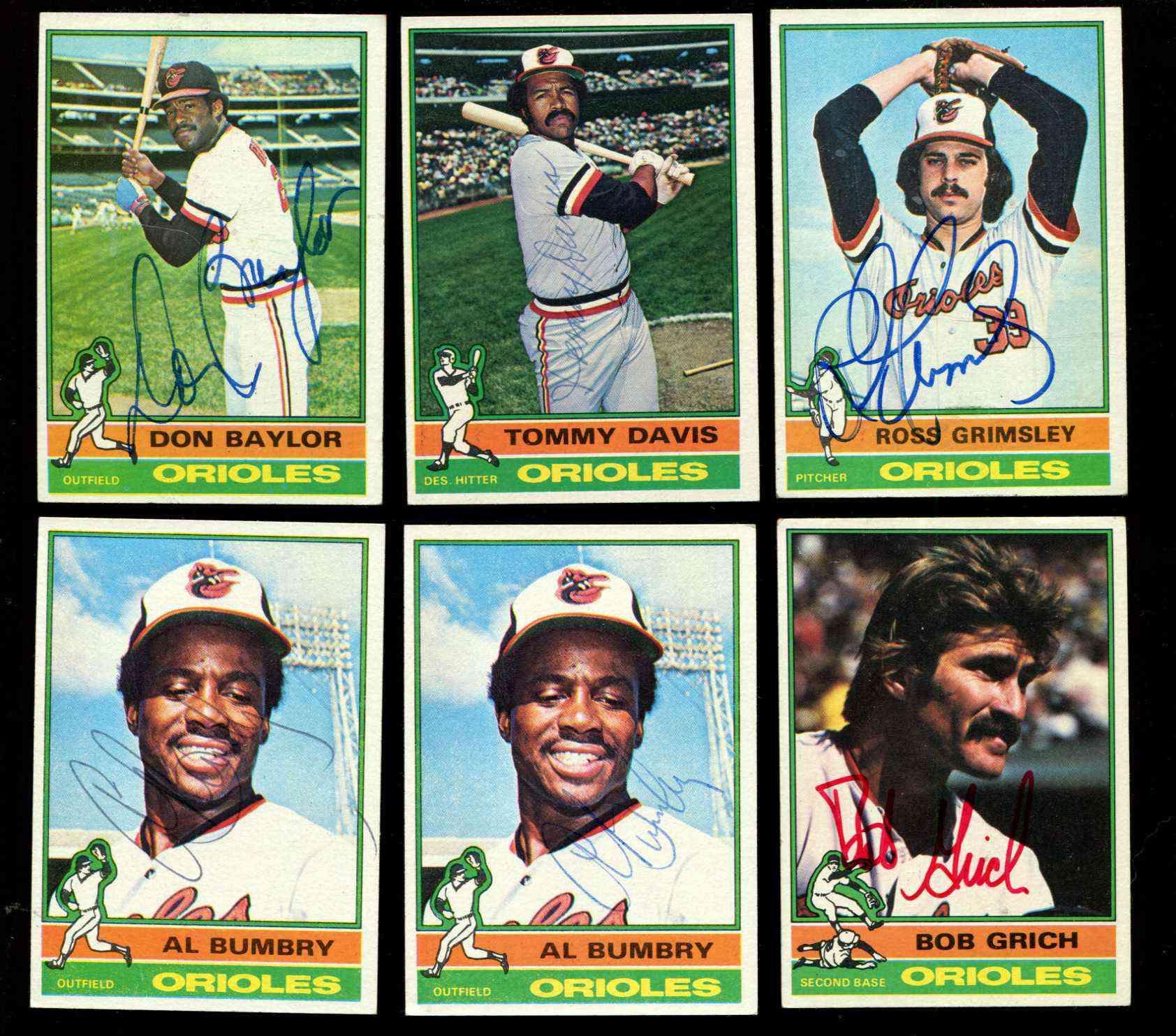 1976 Topps 307 Autographed Al Bumbry Wloa Orioles