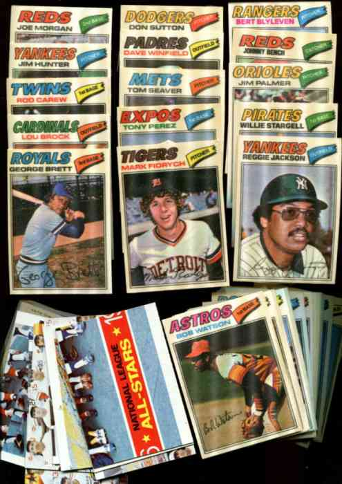 1977 Topps Cloth Stickers  - STARTER SET (53/73) PACKED w/14 HALL-OF-FAMERS Baseball cards value