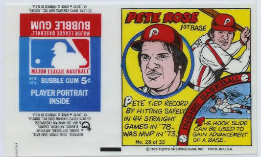 #28 Pete Rose - 1979 Topps Comics with AD PANEL ! (Phillies) Baseball cards value