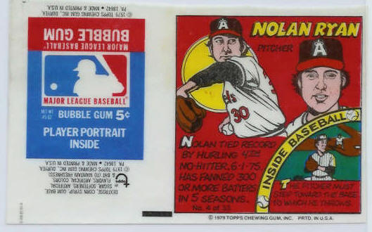 #.4 Nolan Ryan - 1979 Topps Comics with AD PANEL ! (Angels) Baseball cards value