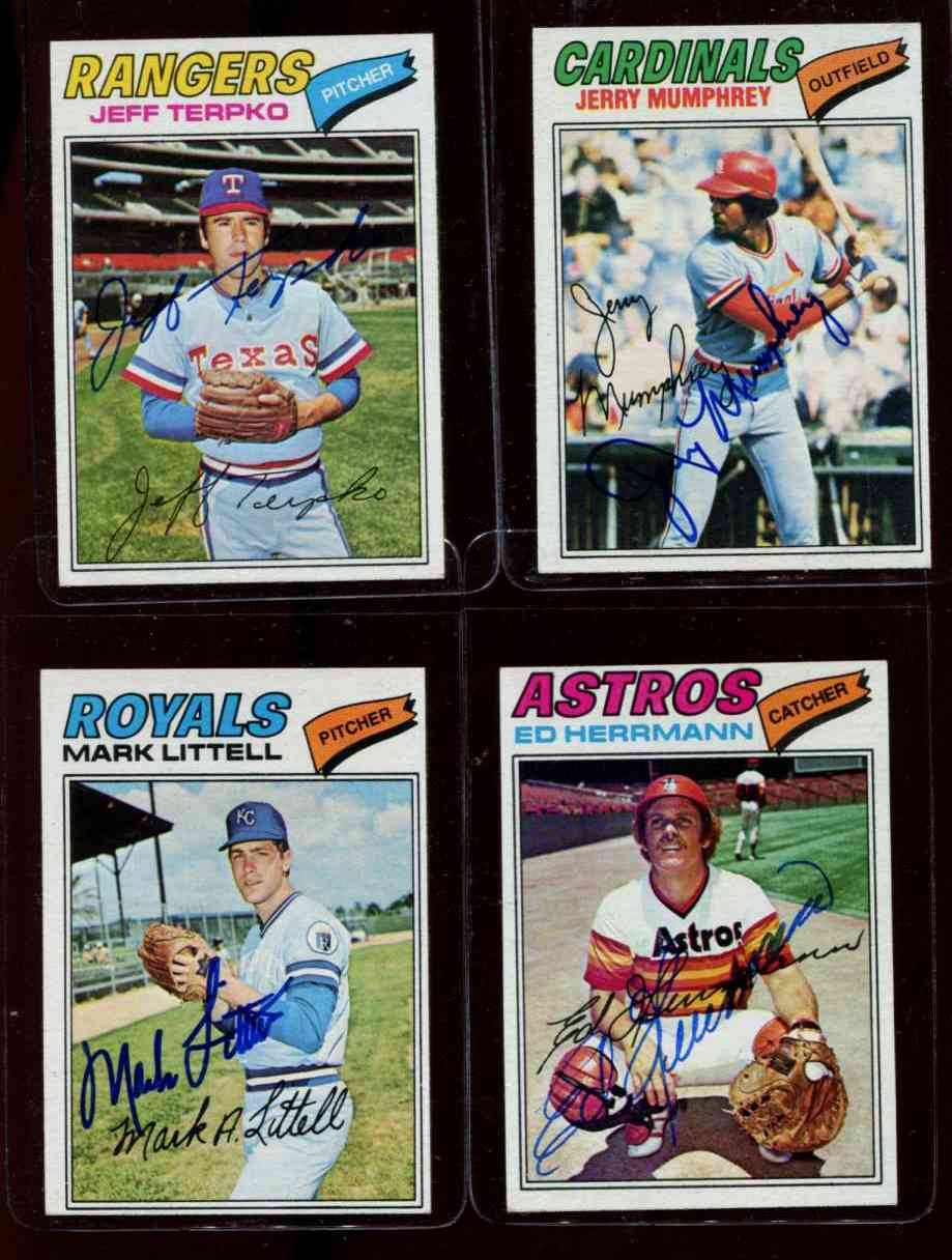 AUTOGRAPHED: 1977 Topps #143 Ed Herrmann w/PSA/DNA LOA (deceased,Astros) Baseball cards value