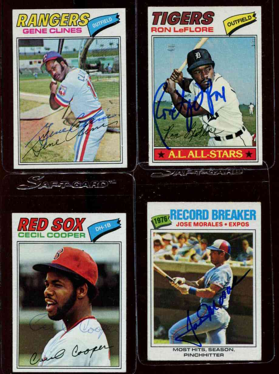 AUTOGRAPHED: 1977 Topps #237 Gene Clines w/PSA/DNA Auction LOA (Rangers) Baseball cards value