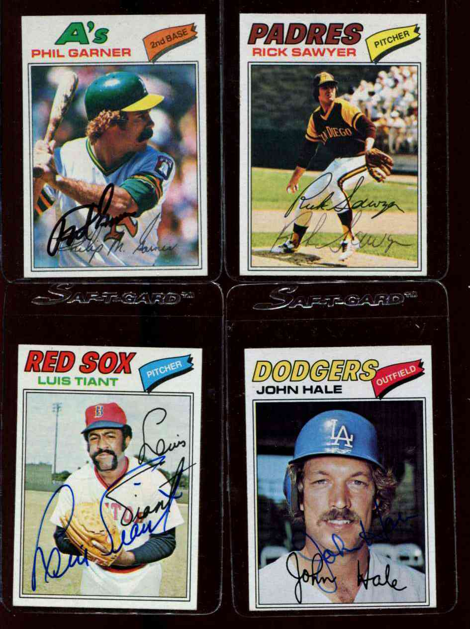 Autographed 1977 Topps 261 Phil Garner Wpsadna Auction