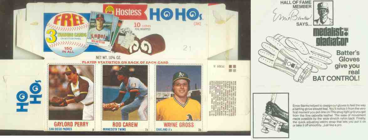 1978 Hostess 'HoHos' COMPLETE BOX #139-140-141 w/Gaylord Perry,Rod Carew Baseball cards value