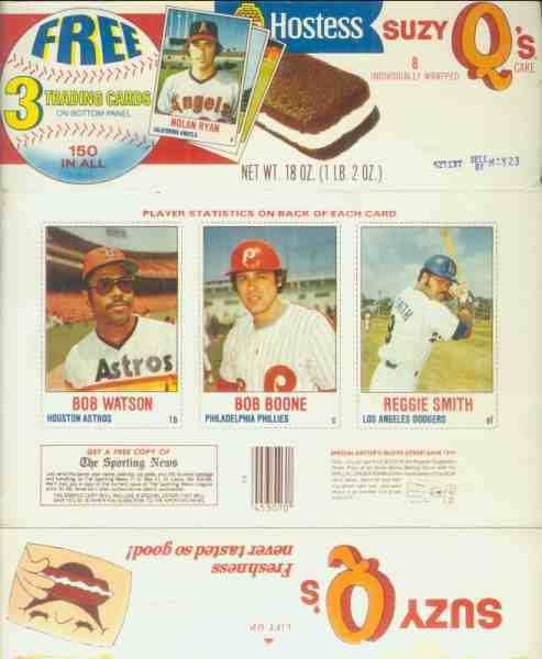 1978 Hostess 'Suzy Q's' COMPLETE BOX #.88-89-90 w/Bobby Murcer Baseball cards value