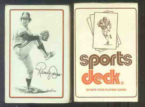 1978 Sports Deck - Lot of (10) Randy Jones Playing Card Deck 'Bridge Size' Baseball cards value