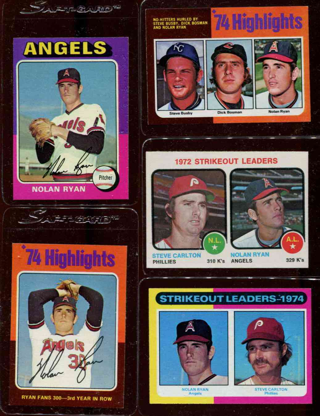 1973 Topps #.67 Strikeout Leaders (Nolan Ryan/Steve Carlton) [#x] Baseball cards value
