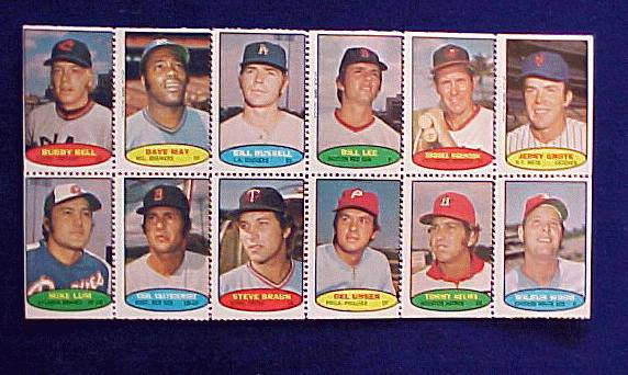 1974 Topps STAMPS SHEET #.2 Carl Yastrzemski, Brooks Robinson Baseball cards value