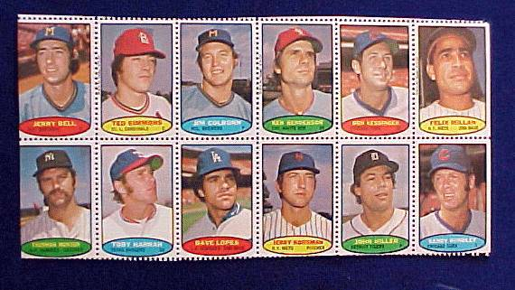 1974 Topps STAMPS SHEET #.3 Thurman Munson, Jerry Koosman Baseball cards value