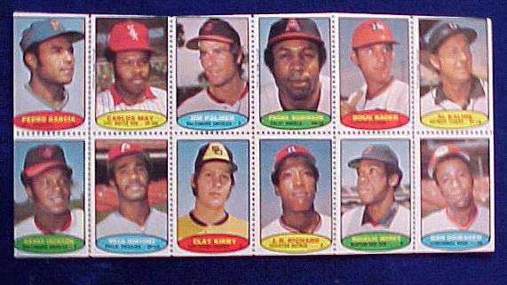 1974 Topps STAMPS SHEET #.9 Frank Robinson, Al Kaline, Jim Palmer Baseball cards value