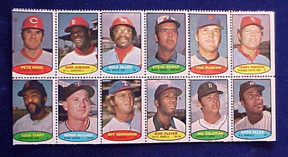 1974 Topps STAMPS SHEET #22 PETE ROSE, Harmon Killebrew, Luis Aparicio Baseball cards value