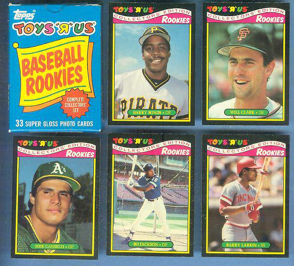 Toys 'R' Us - 1987 ROOKIES - COMPLETE SET (33 Cards by Topps) Baseball cards value